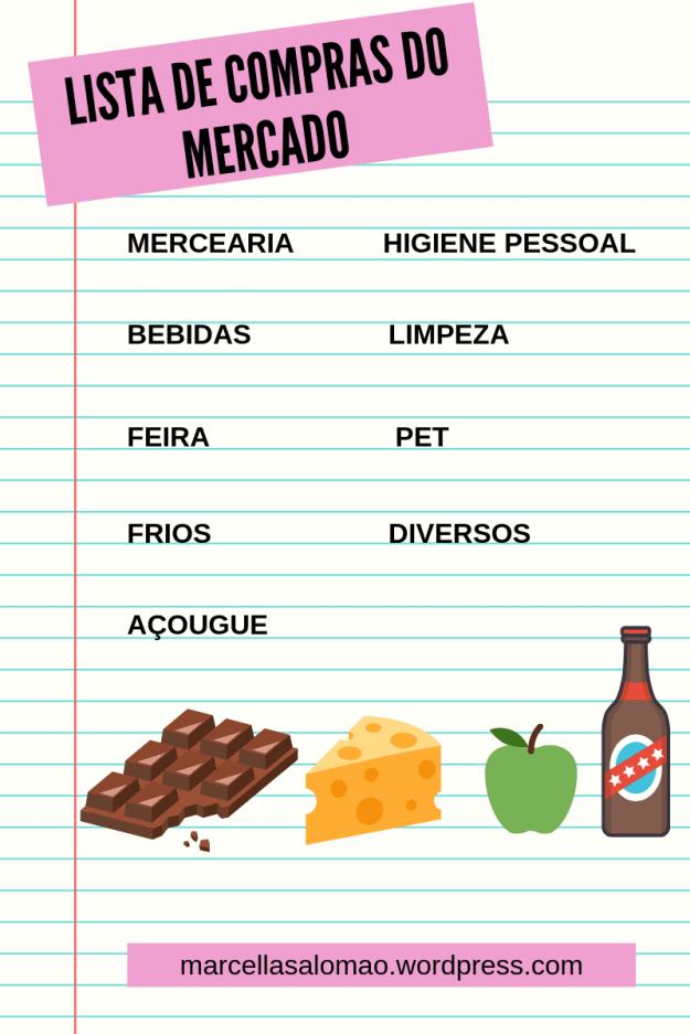 Lista de compras do mercado